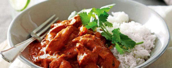 خوراک مرغ به همراه کره