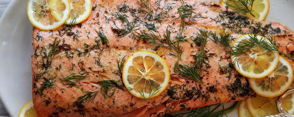 ماهی سالمون با ادویه