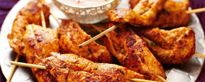 مرغ تند کبابی