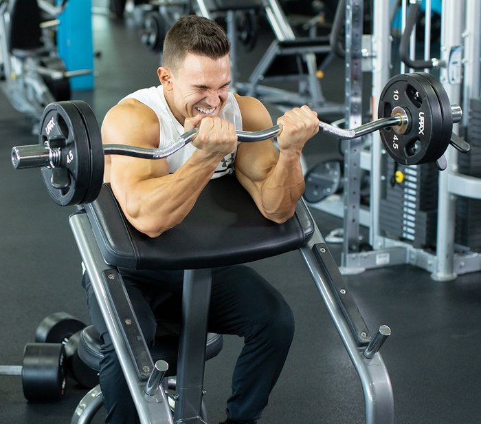 عضلات جلو بازو